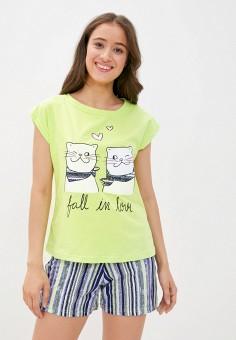 Пижама, Winzor, цвет: зеленый, синий. Артикул: WI011EWJYCV6. Одежда / Домашняя одежда