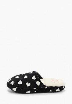 Тапочки, women'secret, цвет: черный. Артикул: WO004AWHUHW7. Обувь / Домашняя обувь