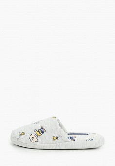 Тапочки, women'secret, цвет: серый. Артикул: WO004AWHUPS6. Обувь / Домашняя обувь