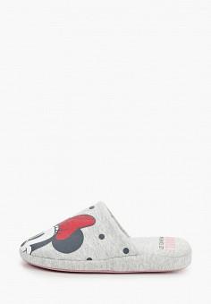 Тапочки, women'secret, цвет: серый. Артикул: WO004AWHUPS7. Обувь / Домашняя обувь