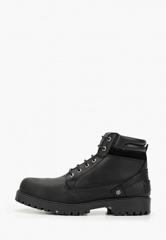 Ботинки, Wrangler, цвет: черный. Артикул: WR224AMGSIK2. Обувь / Ботинки / Высокие ботинки