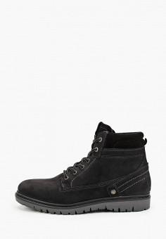 Ботинки, Wrangler, цвет: черный. Артикул: WR224AMGSIM3. Обувь / Ботинки / Высокие ботинки