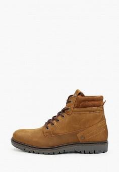 Ботинки, Wrangler, цвет: коричневый. Артикул: WR224AMGSIM4. Обувь / Ботинки / Высокие ботинки