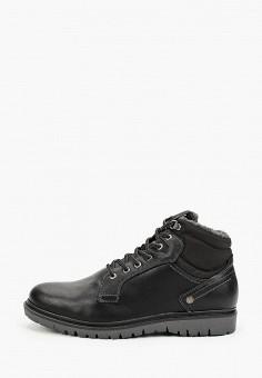 Ботинки, Wrangler, цвет: черный. Артикул: WR224AMGSIM6. Обувь / Ботинки / Высокие ботинки