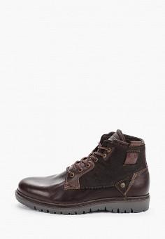 Ботинки, Wrangler, цвет: коричневый. Артикул: WR224AMGSIM9. Обувь / Ботинки / Низкие ботинки