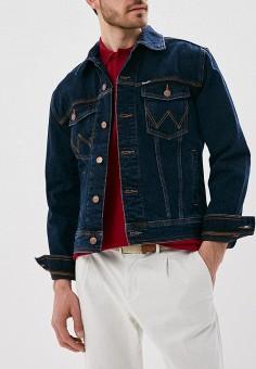 Куртка джинсовая, Wrangler, цвет: синий. Артикул: WR224EMANP11. Одежда / Верхняя одежда / Джинсовые куртки