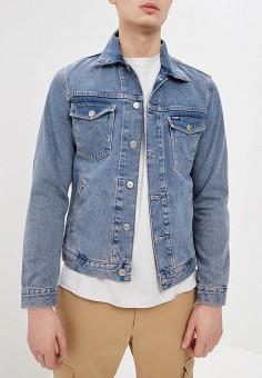Куртка джинсовая, Wrangler, цвет: голубой. Артикул: WR224EMDGGC0.