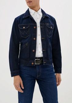 Куртка джинсовая, Wrangler, цвет: синий. Артикул: WR224EMFQCT6.