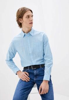 Рубашка, Wrangler, цвет: голубой. Артикул: WR224EMHYJJ8.