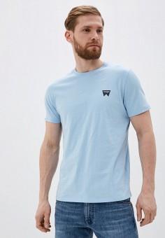 Футболка, Wrangler, цвет: голубой. Артикул: WR224EMHYJW9.