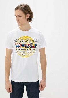 Футболка, Wrangler, цвет: белый. Артикул: WR224EMHYJY6.
