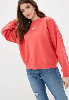 Свитшот, Wrangler, цвет: розовый. Артикул: WR224EWJOTT5.