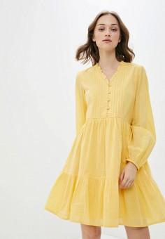 Платье, Y.A.S, цвет: желтый. Артикул: YA806EWHSRA9. Одежда / Платья и сарафаны