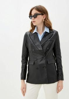 Куртка кожаная, You&You, цвет: черный. Артикул: YO005EWJBSC1. Одежда / Верхняя одежда / Кожаные куртки
