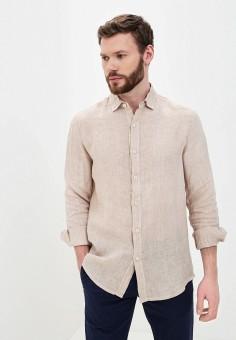 Рубашка, Young & Rich, цвет: бежевый, белый. Артикул: YO009EMJFDY4. Одежда / Рубашки / Рубашки с длинным рукавом
