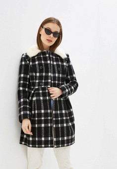 Пальто, Yumi, цвет: черный. Артикул: YU001EWHEXS8. Одежда / Верхняя одежда / Пальто / Зимние пальто