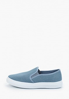 Слипоны, Юничел, цвет: голубой. Артикул: YU003ABIQCC0. Мальчикам / Обувь