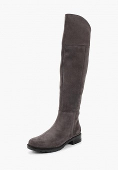 Ботфорты, Юничел, цвет: серый. Артикул: YU003AWCJIL1. Обувь / Сапоги / Ботфорты