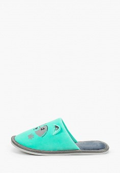Тапочки, Юничел, цвет: бирюзовый. Артикул: YU003AWGHDR8. Обувь / Домашняя обувь