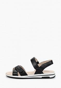 Сандалии, Юничел, цвет: черный. Артикул: YU003AWIQEU5. Обувь / Обувь с увеличенной полнотой
