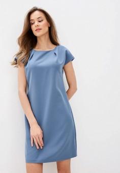 Платье, Zarina, цвет: голубой. Артикул: ZA004EWHZOJ2. Одежда / Платья и сарафаны / Повседневные платья