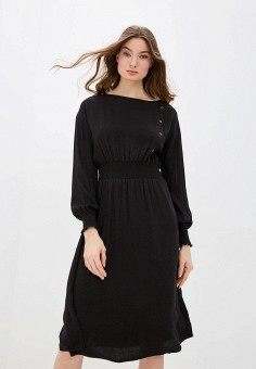 Платье, Zarina, цвет: черный. Артикул: ZA004EWHZOK0.