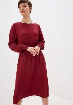 Платье, Zarina, цвет: бордовый. Артикул: ZA004EWHZOK1.