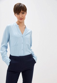 Блуза, Zarina, цвет: голубой. Артикул: ZA004EWHZOK6.