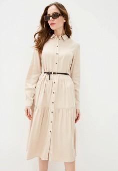 Платье, Zarina, цвет: бежевый. Артикул: ZA004EWHZON8.