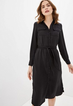 Платье, Zarina, цвет: черный. Артикул: ZA004EWHZON9.