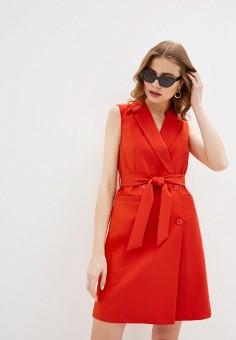 Платье, Zarina, цвет: красный. Артикул: ZA004EWHZOQ9.