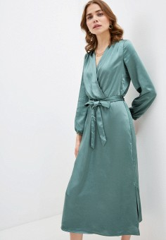 Платье, Zarina, цвет: зеленый. Артикул: ZA004EWHZOR6.