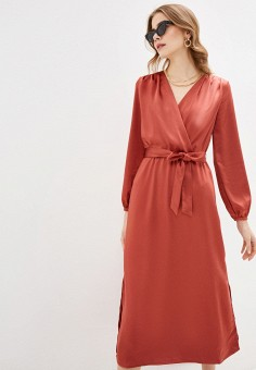 Платье, Zarina, цвет: коралловый. Артикул: ZA004EWHZOR7.
