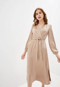 Платье, Zarina, цвет: бежевый. Артикул: ZA004EWHZOR8.