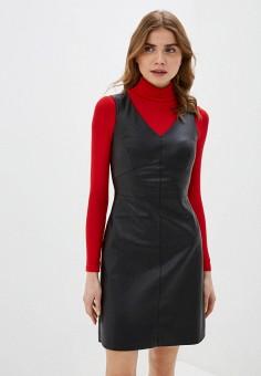 Платье, Zarina, цвет: черный. Артикул: ZA004EWHZOT6.