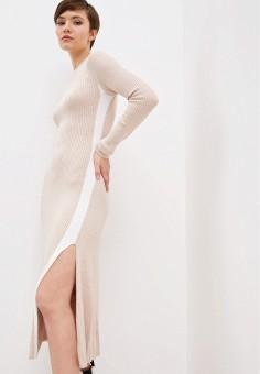 Платье, Zarina, цвет: бежевый. Артикул: ZA004EWHZOX2.