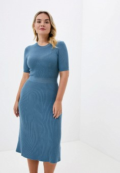Платье, Zarina, цвет: голубой. Артикул: ZA004EWHZOY1.