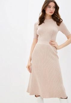 Платье, Zarina, цвет: бежевый. Артикул: ZA004EWHZOY3.