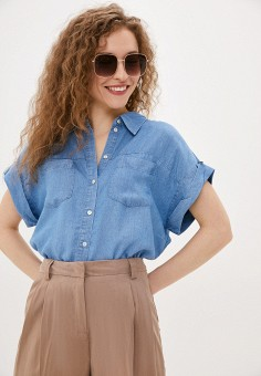 Рубашка джинсовая, Zarina, цвет: синий. Артикул: ZA004EWJEFP7.