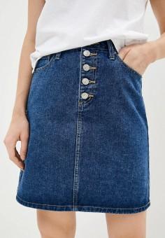 Юбка джинсовая, Zarina, цвет: синий. Артикул: ZA004EWJEFQ2. Одежда / Юбки