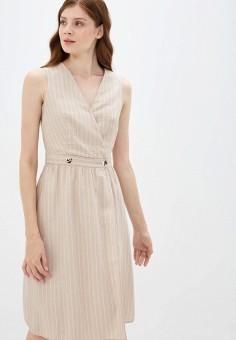 Платье, Zarina, цвет: бежевый. Артикул: ZA004EWJEFQ9.