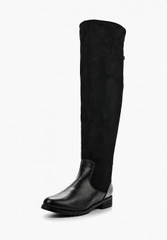 Ботфорты, Zenden Woman, цвет: черный. Артикул: ZE009AWKOD55. Обувь / Сапоги