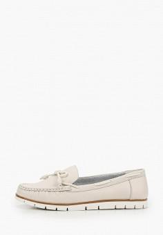 Мокасины, Zenden Comfort, цвет: бежевый. Артикул: ZE011AWHIJW4. Обувь / Мокасины и топсайдеры