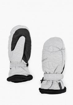 Варежки, Ziener, цвет: серый. Артикул: ZI003DWHIEZ2. Аксессуары / Перчатки и варежки
