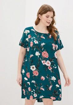 Платье, Zizzi, цвет: зеленый. Артикул: ZI007EWHNHU7. Одежда / Платья и сарафаны
