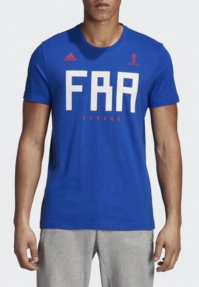 Купить Футболка adidas - цвет: синий, Пакистан, AD002EMALUG4