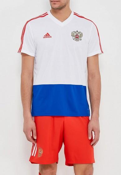 Купить Футболка спортивная adidas - цвет: белый, Вьетнам, AD002EMALUN5