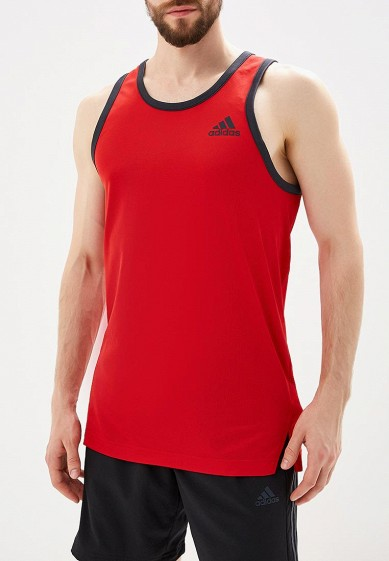 Купить Майка спортивная adidas - цвет: красный, Таиланд, AD002EMAMBC3