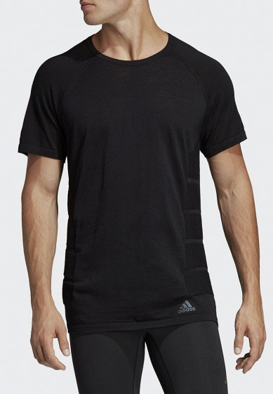 Купить Футболка спортивная adidas - цвет: черный, Индия, AD002EMCDGK3