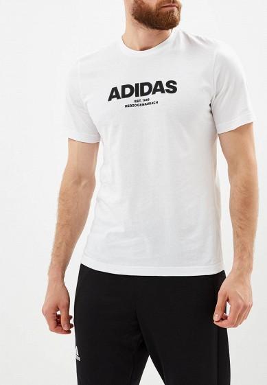 Купить Футболка adidas - цвет: белый, Индонезия, AD002EMCDGN3